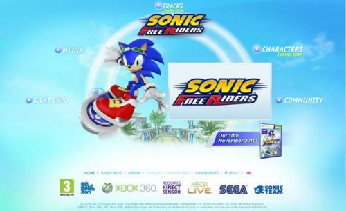 Sonic Free Riders Website Launched