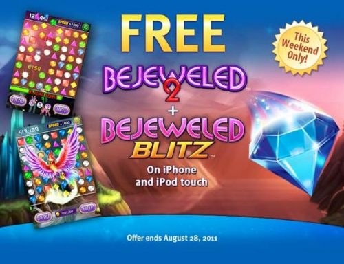 Bejeweled 2 + Bejeweled Blitz FREE on the iPhone & iPod Touch This Weekend Only!