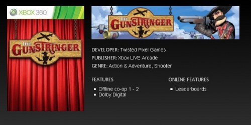 The Gunstringer listed on XBLA momentarily