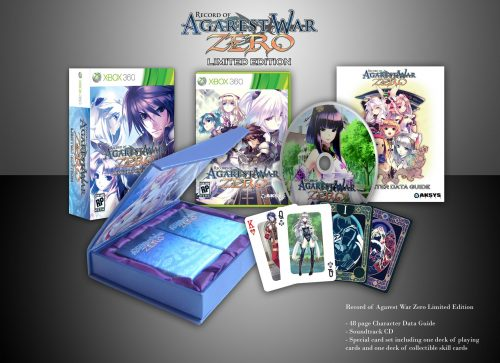 Record of Agarest War Zero Limited Edition announced + screenshots