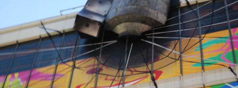 Steins;Gate Satellite Crash Recreation in Akihabara